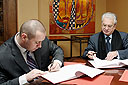 Signing of an Agreement between the State Hermitage and the Renaissance Hotel Ltd