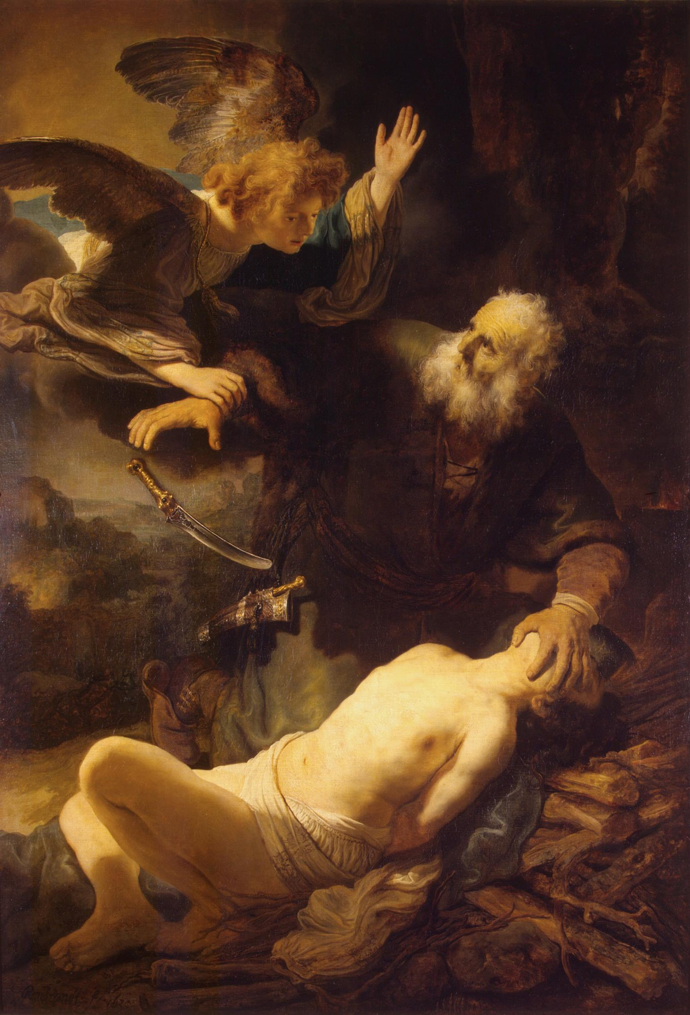Image result for Abraham sacrifice isaac famous painting rembrandt