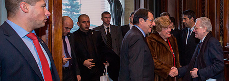 Nicos Anastasiades, President of the Republic of Cyprus, visits the State Hermitage Museum