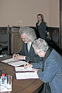 Signing of a Protocol of Intent between the State Hermitage and the National Art Museum of the Republic of Belarus