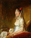 The State Hermitage is exhibiting Francisco Goya's Portrait of a Lady holding a Dog from the collection of Russian entrepreneur Vladimir Logvinenko