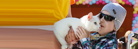 Achilles the Hermitage Cat Greets Children on Their Special Day