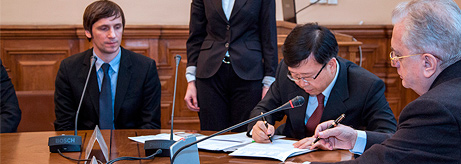 Signing of the Agreement between the State Hermitage Museum and Korean Air
